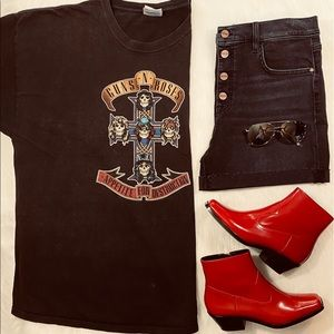 Plus Size Vintage Guns N Roses T Shirt Graphic